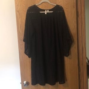 NWT Tacera Lace Black Dress 1X